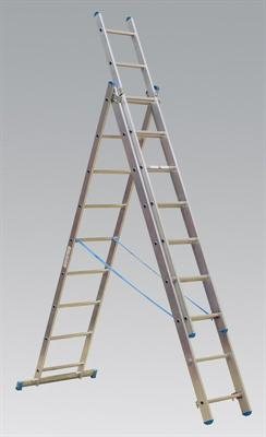 Aluminium Extension Combination Ladder 3x9 EN 131