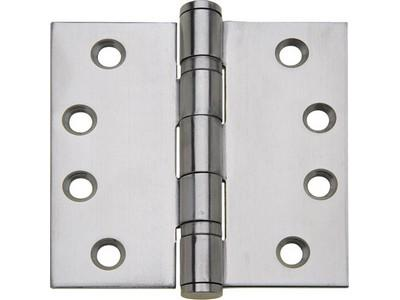 Stainless steel ball bearing butt hinge, 102 x 102 mm