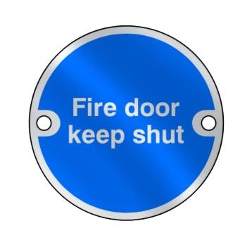 'Fire Door Keep Shut' Disc Sign