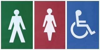 Nylon Rectangular Toilet Door Signs