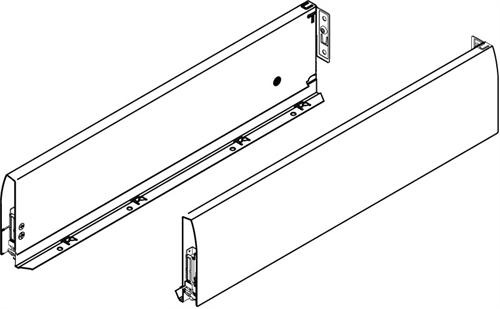 Nova Pro Deluxe drawer sides, standard drawer, 122 mm high