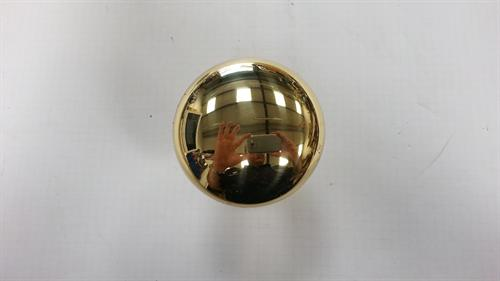 Centre Door knob 70mm- polished brass
