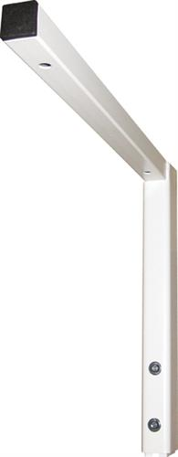 Ropox worktop bracket Finish: White painted steel