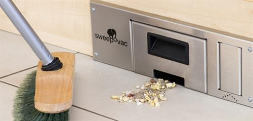 Sweepovac Kitchen Vacuum Unit stainless steel effect