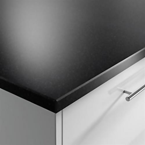 Apollo Slab Tech Solid Surface Splashback, Black Velvet
