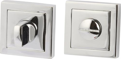 Lever handle accessories with square profile roses, WC/emergency release and inside turn