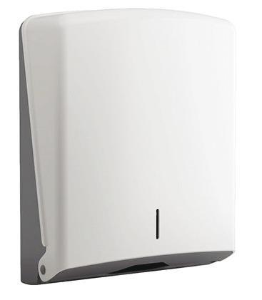 Hand Towel Dispenser, White Abs