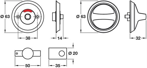 Anti-Ligature Wc Turn And Release