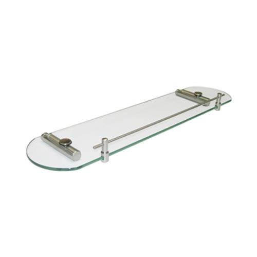Satin Stainless Steel Glass Shelf and Bracket