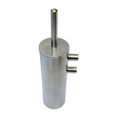 Satin Stainless Steel Toilet Brush and Holder