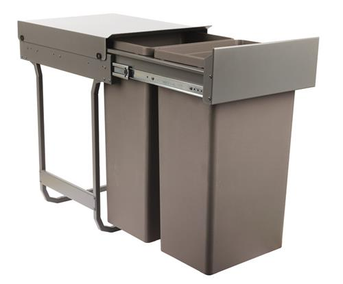 Pull Out Waste Bin, for Hinged Door Cabinet Width 400/450mm, Waste Boss Duo