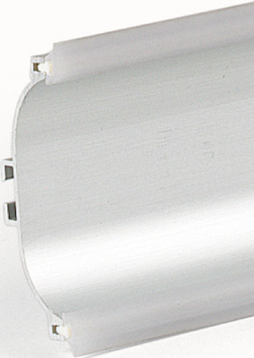 Aluminium profile for handle free doors and drawers