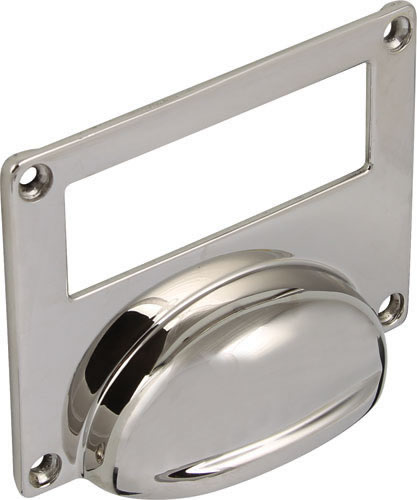 CHATSWORTH card frame cup pull, 96 x 74 mm