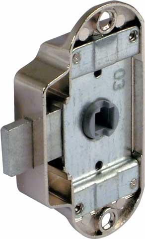 Piccolo-Nova lock case, 25 mm backset, for 7 mm sqaure spindle