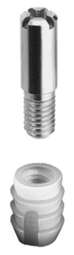 Locking bolt and socket fitting, concentric