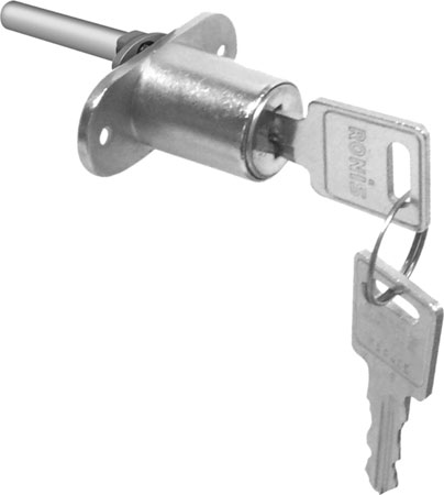 Central locking rotary cylinders, 18 mm