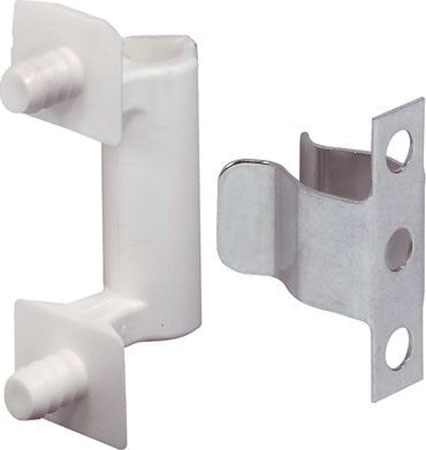 Spring catch, press fit counterpiece