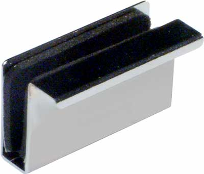 Counterplate with finger pull for glass doors