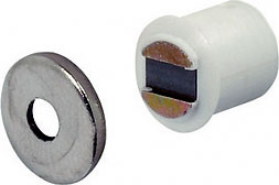 Magnetic catches, morticed, 1.8 kg