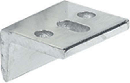 Angled striking plates for furniture bolts