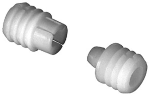 Two piece dowel connector, press-fit