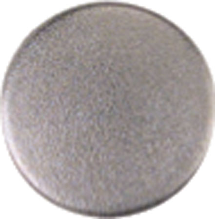 Round cover cap Nickel-plated finish