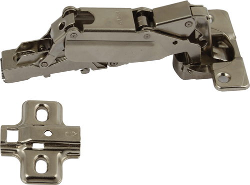 170º Concealed hinge and mounting plate set