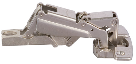 Contract concealed 170º hinge, 35 mm cup, screw fixing, slide on arms, half overlay/twin