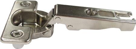 Essentials standard 110° hinge, 35 mm cup, dowel fixing, slide on arms, sprung