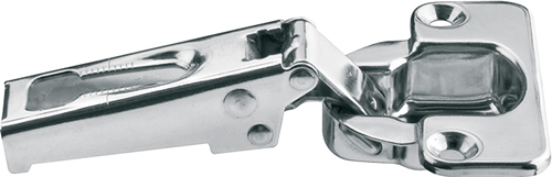 100º Stainless steel hinge, full overlay mounting
