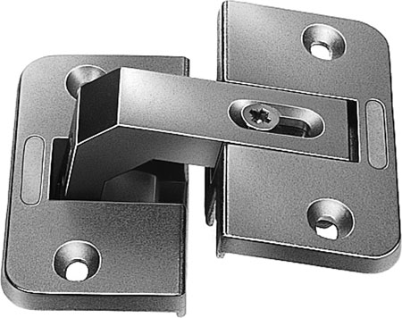 150° pie-cut corner hinge