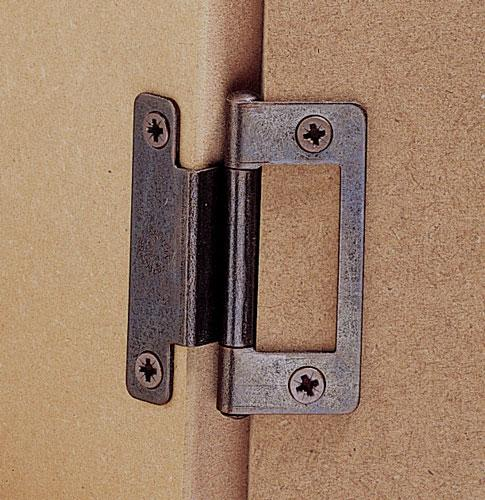 Cranked flush hinge, for 15-19 mm door thickness, light duty