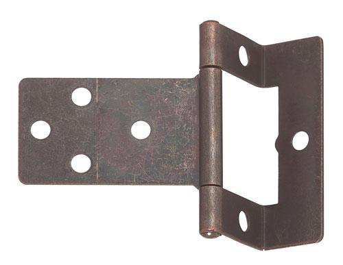 Cranked flush hinge, for 15-16 mm door thickness, medium duty