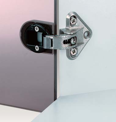 92 degree adjustable glass door hinge, for overlay doors