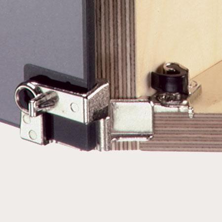 210 degrees glass door hinge, for overlay doors