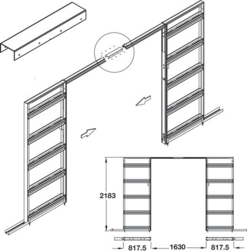 Slido Optimo 80 / Classic 160-B Jointing Set