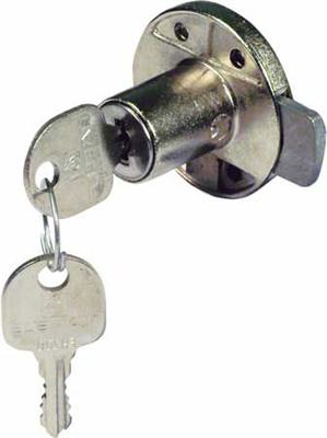 Minilock 40 rim lock,  18 mm cylinder, 20 mm backset, left handed, random key changes