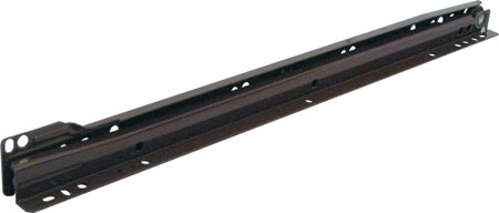Drawer runners, single extension, 30 kg capacity, brown finish
