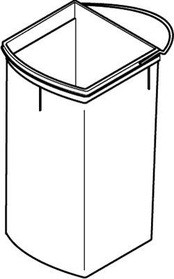 Uno replacement inner bin, 18 litres