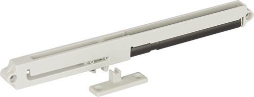 Soft and self closing mechanism with follower for wooden drawers