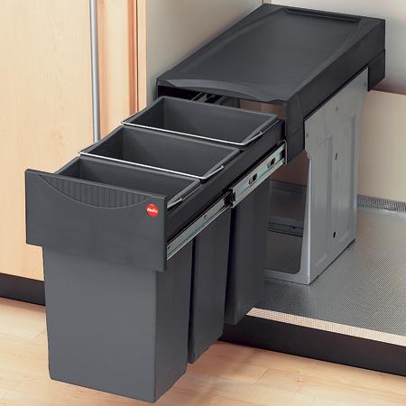 Tandem III waste bin, 3 x 10 litres