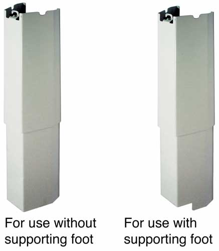 Height adjustable system cover for leg