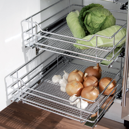 Vauth Sagel Pull Out Storage Set With Chrome Wire Mesh
