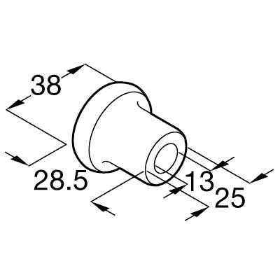 Classic Flat Track System flange track spacer (System 142)