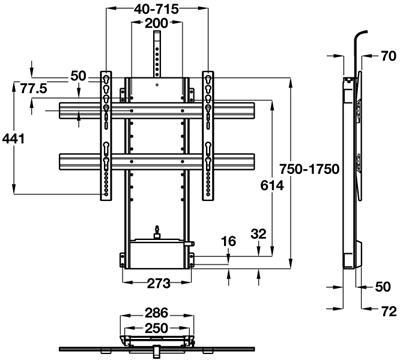 Plasma and LCD TV lift