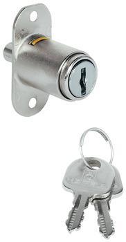 Push-button cylinder,  18 mm, keyed alike