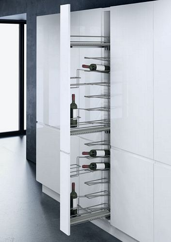 Pull Out Larder Unit With 16 Bottle Wine Rack For 150 Mm Cabinets