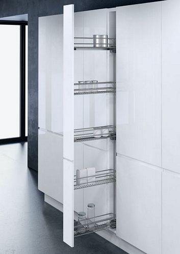 Pull Out Larder Unit With Baskets For 150 Mm Cabinets
