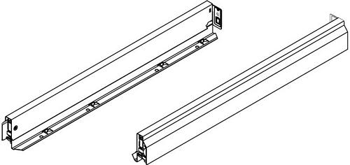 Nova Pro classic drawer sides, 63 mm high, 500 mm length