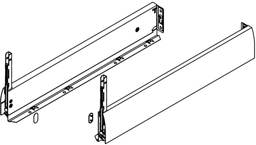 Nova Pro Crystal deluxe drawer sides, 90 mm high, 550 mm length